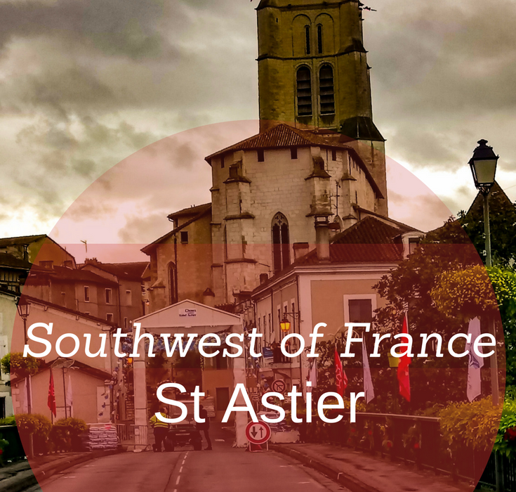 Saint Astier, in southwest of France